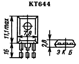 Цоколевка транзистора КТ644
