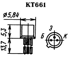 Цоколевка транзистора КТ661