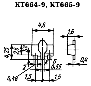 Цоколевка транзисторов КТ664, КТ665