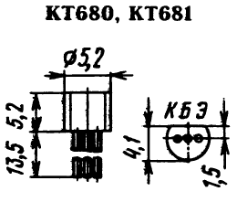 Цоколевка транзисторов КТ680, КТ681
