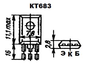 Цоколевка транзистора КТ683
