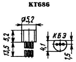 Цоколевка транзистора КТ686