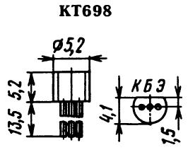 Цоколевка транзистора КТ698