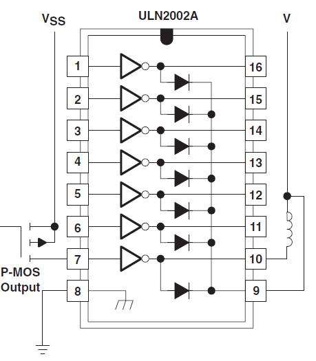 p-МОП подключение нагрузки