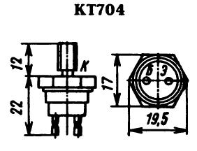 Цоколевка транзистора КТ704