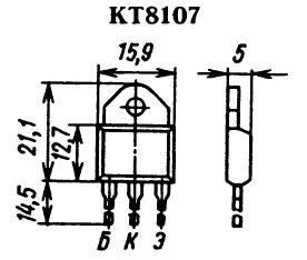 Цоколевка транзистора КТ8107