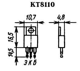 Цоколевка транзистора КТ8110