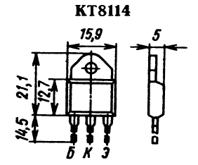 Цоколевка транзистора КТ8114