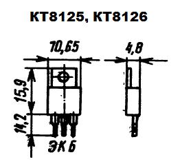 Цоколевка транзисторов КТ8126, КТ8125