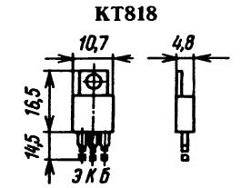 Цоколевка транзистора КТ818