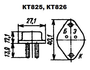 Цоколевка транзисторов КТ825, КТ826