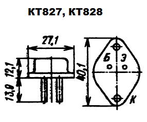 Цоколевка транзисторов КТ827, КТ828
