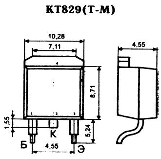 Цоколевка транзистора КТ829(Т-М)