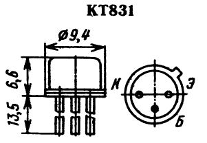 Цоколевка транзистора КТ831
