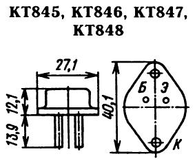 Цоколевка транзисторов КТ845, КТ846, КТ847, КТ848