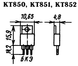 Цоколевка транзисторов КТ850, КТ851, КТ852
