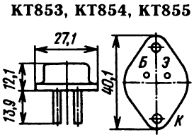 Цоколевка транзисторов КТ853, КТ854, КТ855