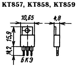 Цоколевка транзисторов КТ857, КТ858, КТ859
