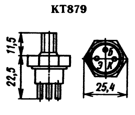Цоколевка транзистора КТ879