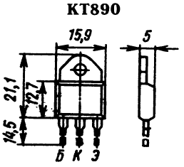 Цоколевка транзистора КТ890