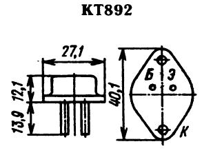 Цоколевка транзистора КТ892