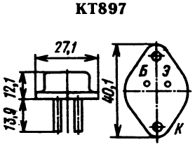 Цоколевка транзистора КТ897