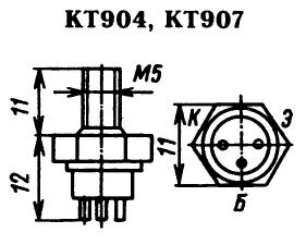 Цоколевка транзисторов КТ904, КТ907