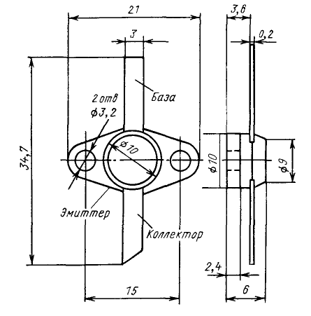 Цоколевка транзистора КТ909