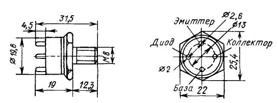 Цоколевка транзистора КТ912