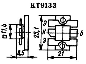 Цоколевка транзистора КТ9133