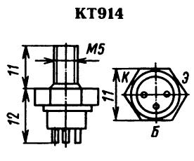 Цоколевка транзистора КТ914