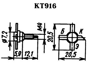 Цоколевка транзистора КТ916