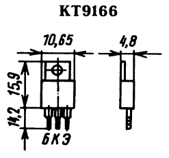 Цоколевка транзистора КТ9166