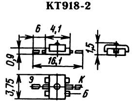 Цоколевка транзистора КТ918