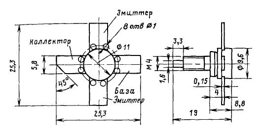 Цоколевка транзисторов КТ922, КТ925