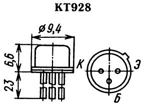 Цоколевка транзистора КТ928