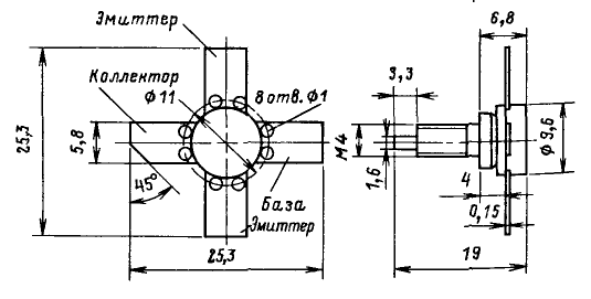 Цоколевка транзистора КТ929