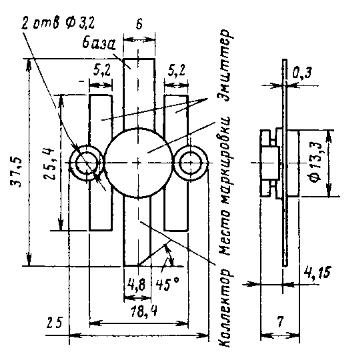 Цоколевка транзисторов КТ930, КТ931