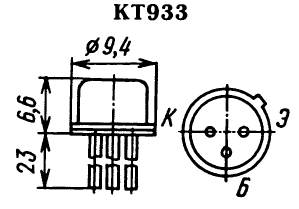 Цоколевка транзистора КТ933