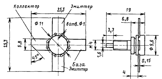 Цоколевка транзистора КТ934