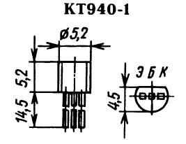 Цоколевка транзистора КТ940-1