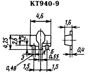 Цоколевка транзистора КТ940-9