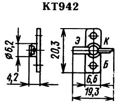Цоколевка транзистора КТ942