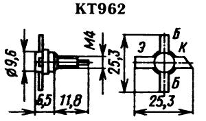 Цоколевка транзистора КТ962