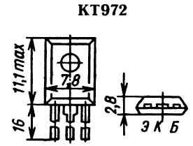 Цоколевка транзистора КТ972