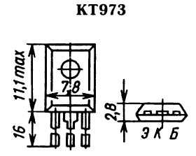 Цоколевка транзистора КТ973