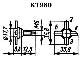 Цоколевка транзистора КТ980
