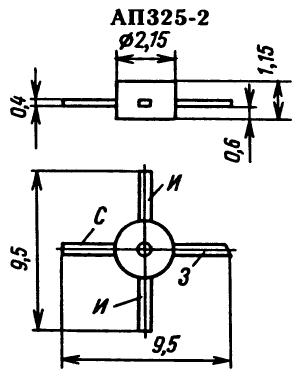 Цоколевка транзистора АП325