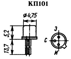 Цоколевка транзистора КП101
