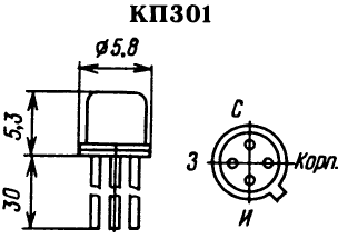 Цоколевка транзистора КП301